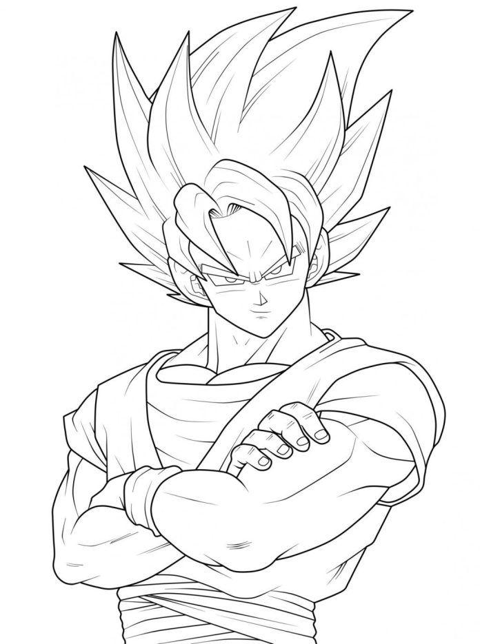 Goku Para Pintar Pesquisa Google Dibujos Goku Dibujo A Lapiz Goku A Lapiz
