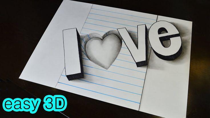 Herz Verschlungen 3d 3 Herz Zeichnen Zeichnen Lernen Mit Bleistift