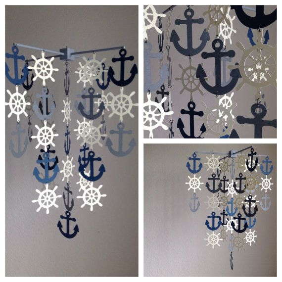Hey, I found this really awesome Etsy listing at https://www.etsy.com/listing/189770497/nautical-mobile-in-navy-beige-and-gray