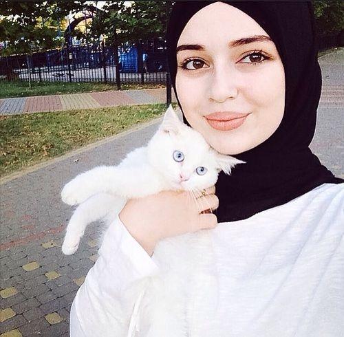 Chechen Muslimah and Kitty Friend