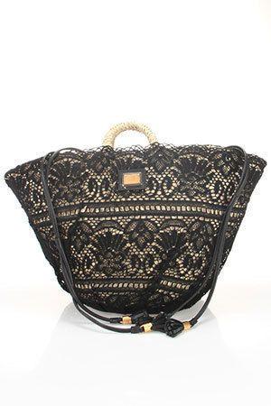 Dolce & Gabbana  Coffa Pizzo Shopping Bag In Black --My dream bag