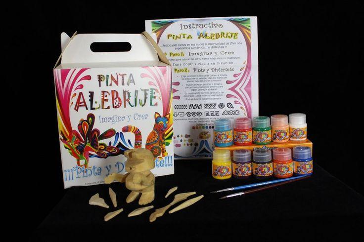#1 Spanish Inst. Children's Do it yourself Alebrije Paint Kit Oaxaca Mexico Folk