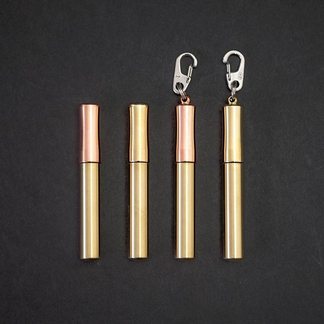 Machined from solid brass and copper stock the watertight Sunshine Products USA Toothpick Case keeps your toothpicks (or even pills and rolled up cash) safe dry and ready at all times. Link in our bio!
