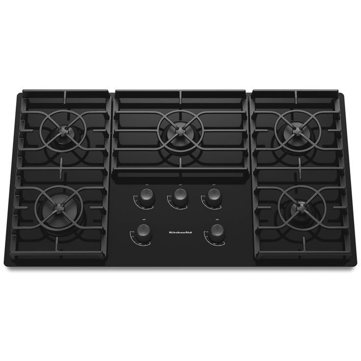 KitchenAid Architect II 5-Burner Gas Cooktop (Black) (Common: 36-in; Actual: 36.438-in)