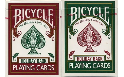 Bicycle Holiday Playing Cards 2 Deck Set with Metal Tin. $49.99. #playingcards #poker #games #holiday