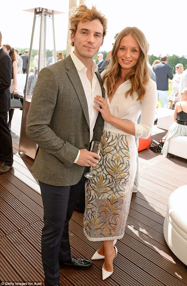 No need for research now! Sam Claflin - who stars in new film The Riot Club about a posh secret society - was joined by his wife Laura Haddo...