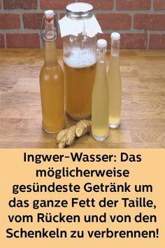 Ingwer-Wasser: Das möglicherweise gesündeste Getränk um das ganze Fett der Taille, vom Rücken und von den Schenkeln zu verbrennen