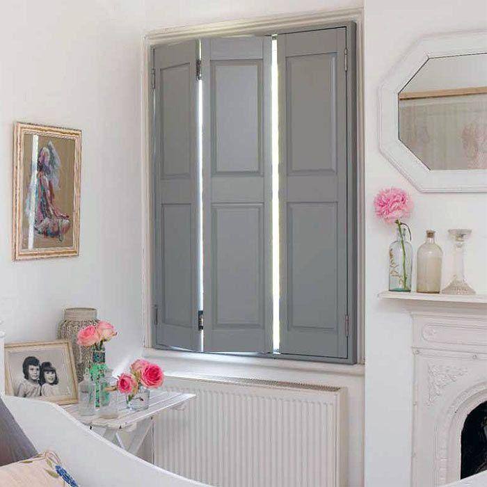Solid panel house ideas pinterest shutters window - Solid panel interior window shutters ...