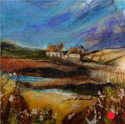 The Cove - by Moy Mackay. What beautiful use of felt