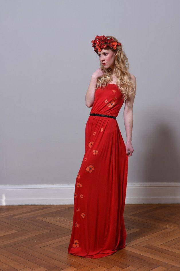 Entdecke lässige und festliche Kleider: Maxi Tube Kleid Poppy made by Fadenrot via DaWanda.com