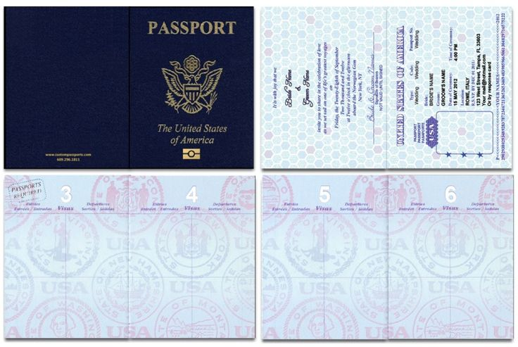 Us blank passport template invitation templates for Fun passport template