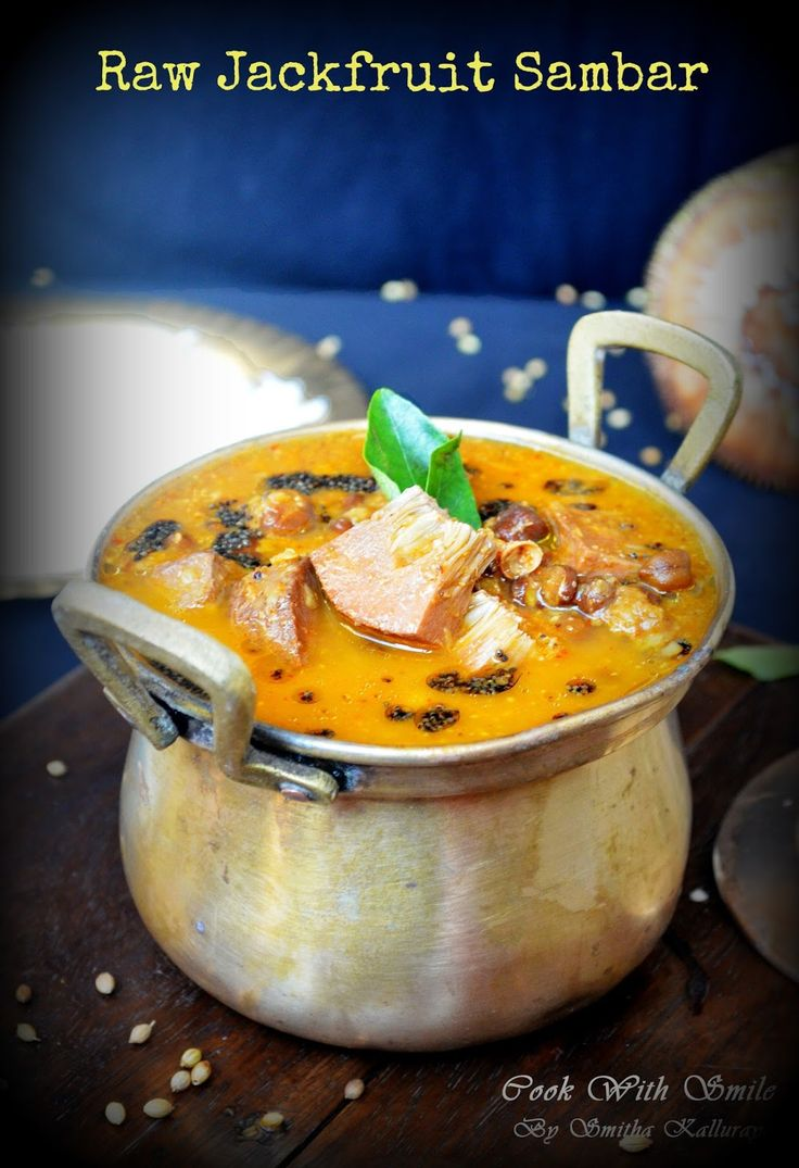 RAW JACKFRUIT Sambar - the most delicious, healthy and natural meat alternative in the game!