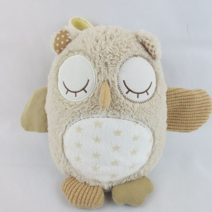 Cloud b  Nighty Night Owl Smart Sensor Plush W/8 Soothing Sounds Biege  #Cloudb