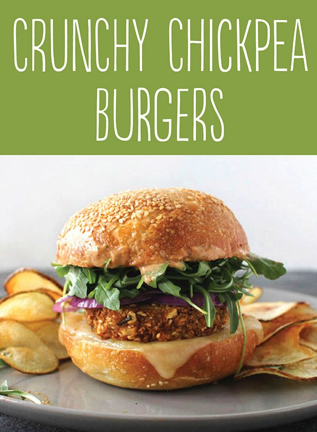 25 Tasty Hamburger Alternatives That Are Actually Good For You: Crunchy Chickpea Burgers.