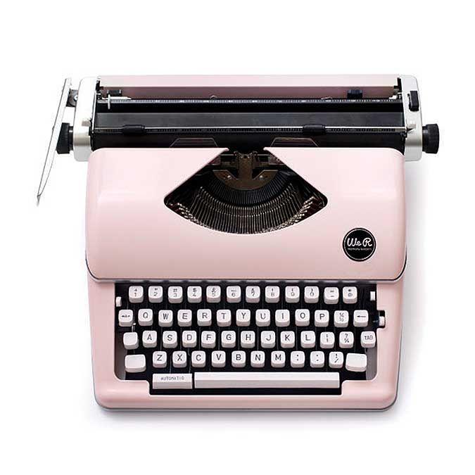 Machine à écrire Typecast - rose