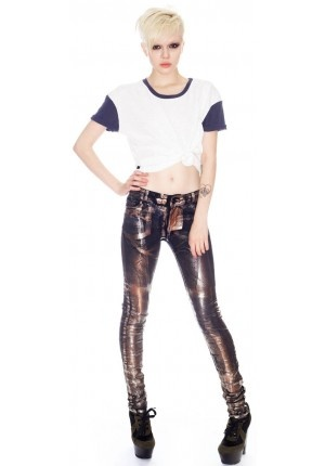 These mirrored jeans are sure to turn some heads.