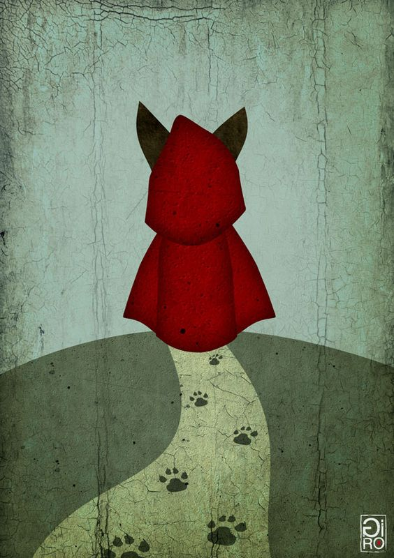Little Red Riding Hood - Le petit Chaperon Rouge -  Artist Giulio Rossi