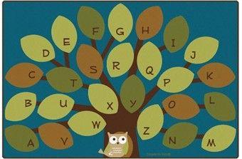 Owl-phabet Tree Classroom Rug 6' x 9'