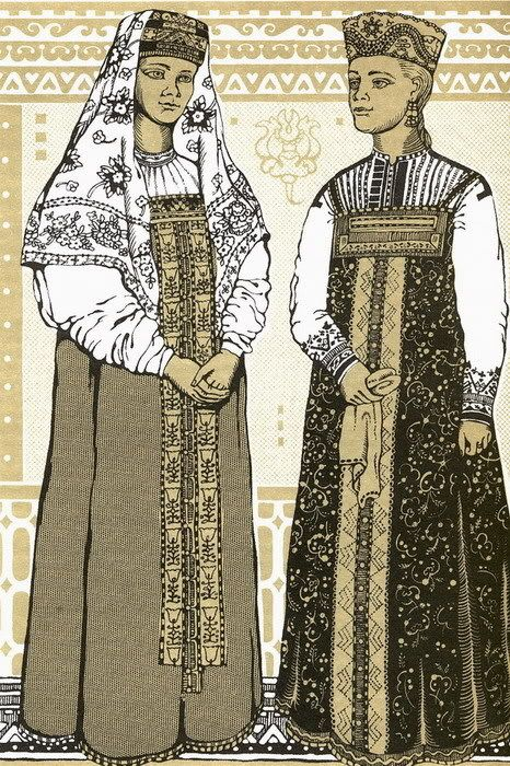 Северный сарафанный комплекс/North Russia sarafan complex of costume