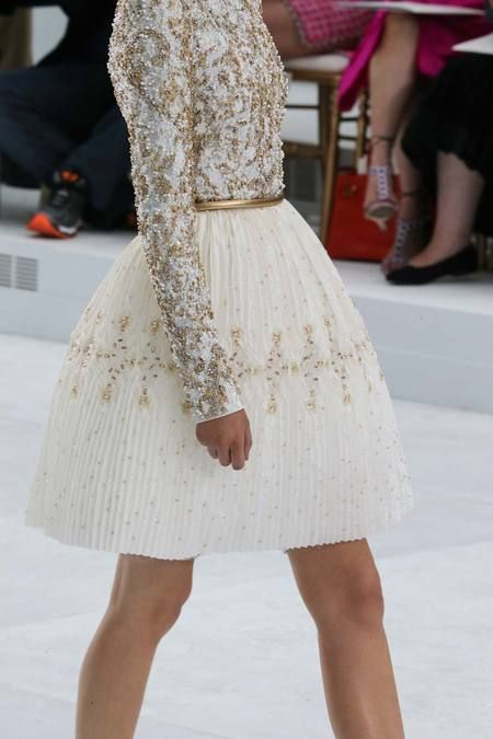 Chanel | Fall 2014 Couture Collection Wedding Rehearsal Dress