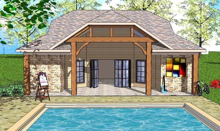 Plan 530020UKD: Tiny House Plan with Vaulted Interior and Covered Porch
