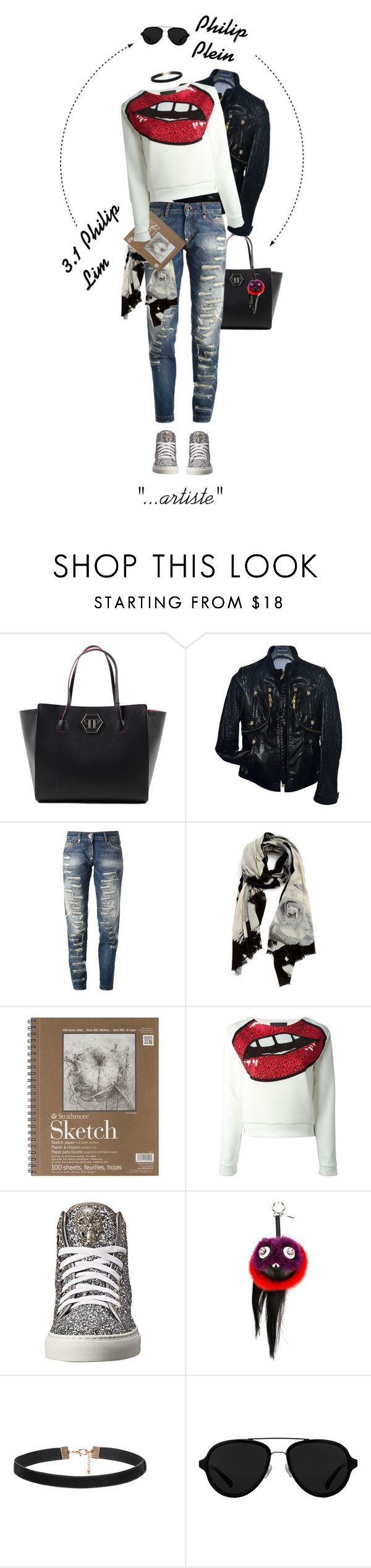 """""""Philippe Philip"""" by andrea-garzon ❤ liked on Polyvore featuring Philipp Plein, Nordstrom, Fendi and 3.1 Phillip Lim"""