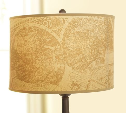 nice: Cartography Lampshades, Lamps Shades, Old Maps, Living Room, Drums Lamps, Lamp Shades, Cartography Drums, Maps Room, Pottery Barns