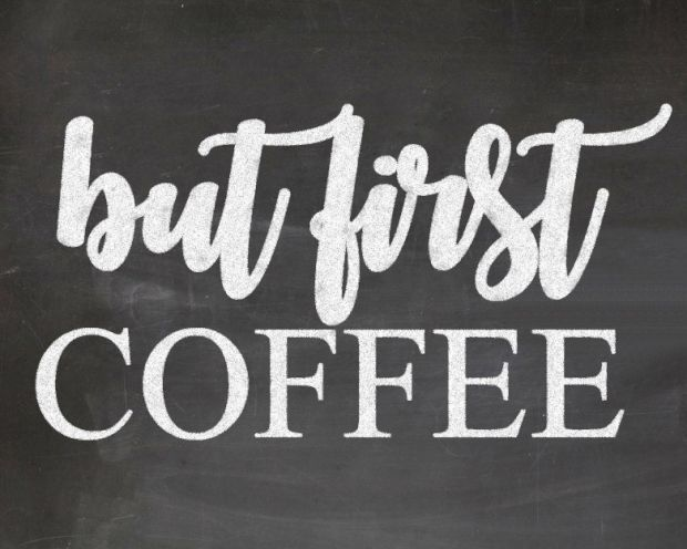 But First Coffee + Free Chalkboard Printable – Rustic Reclaimed Designs