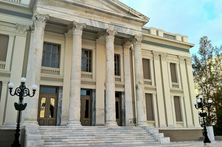 The impressive Municipal Theatre of Piraeus was recently restored to its original form after years of neglect. (Walking Athens, Route 24 - Piraeus)