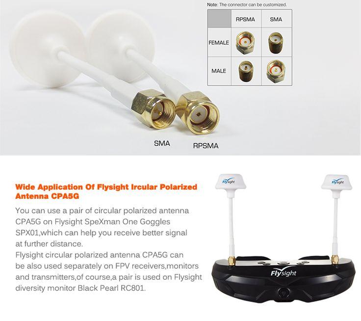 5.8ghz 2.5dBi FPV Circular Polarized RX TX Omni Directional Wireless Video Antenna - FPV accessories - FLYSIGHT