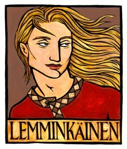 "10 jul 13 [""Lemminkainen, Hero of my favorite story in the Finnish Kalevala ... Artist: Thalia Took""]"