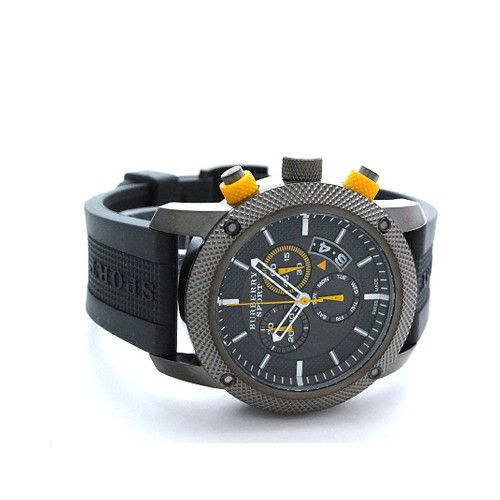 bu7713 burberry sport gray rubber strap Mens watches