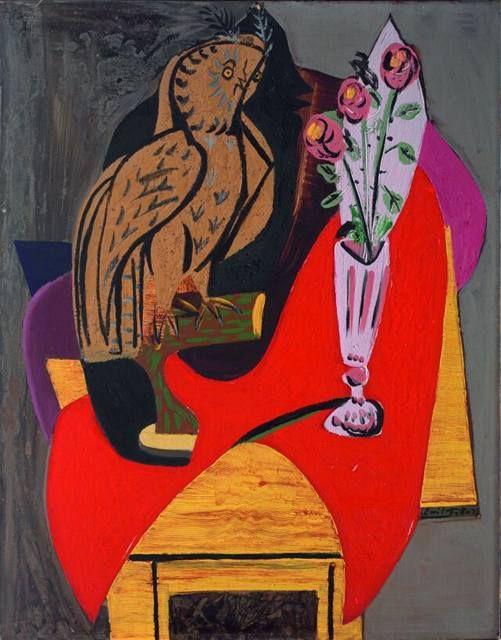 Emil Filla (Czech 1882–1953) [Cubism, Modernism, Osma] Zátiší se sovou, 1937.