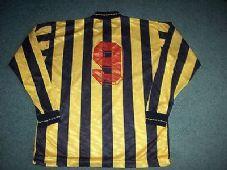 1990 1991 Berwick Rangers Match Worn #9 L/s Football Shirt Top XL Scotland