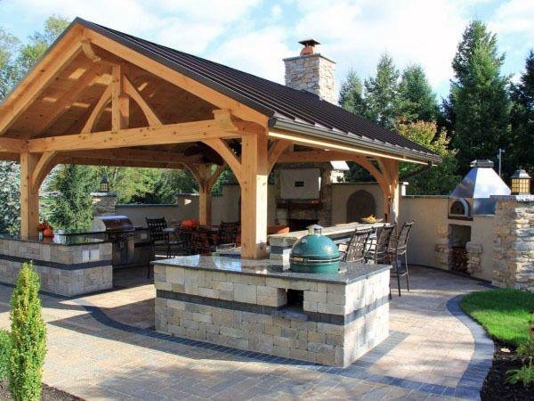 Top 50 Best Backyard Pavilion Ideas Covered Outdoor Structure Designs Outdoor Kitchen Design Outdoor Kitchen Decor Backyard Kitchen