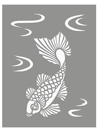 12 best images about koi fish on pinterest how to draw for Koi fish stencil