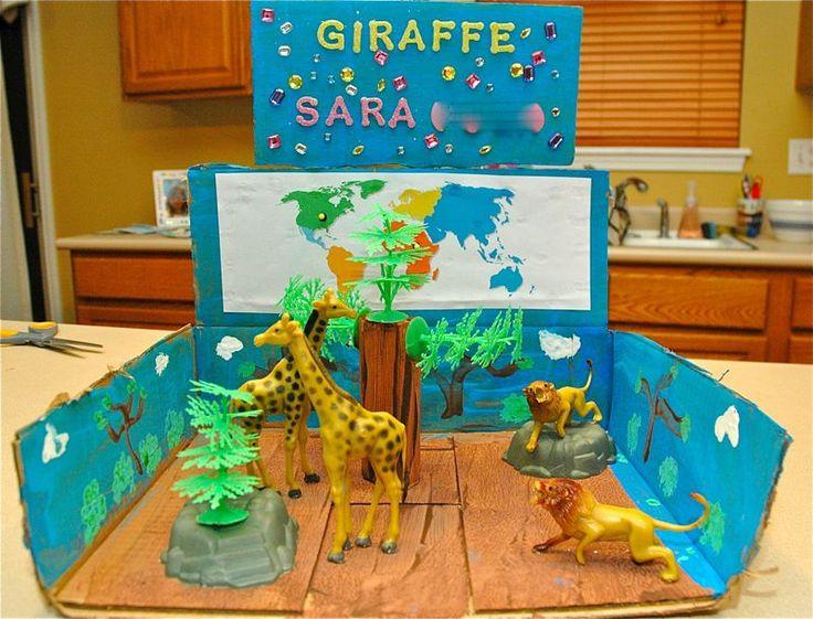 Giraffe diorama