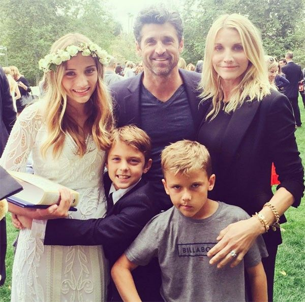 patrick dempsey's daughter tallula fyfe dempsey | Patrick Dempsey e a esposa Jillian com os filhos Darby Galen, Tallula ...