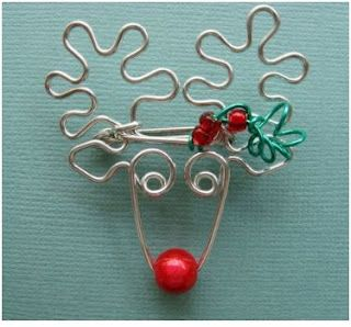 Christmas Rudolf -- Whimsical Animal Wire Work Jewelry by Chatnoir77 - The Beading Gem's Journal