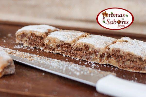 Palha iataliana de doce de leite com biscoito de chocolate