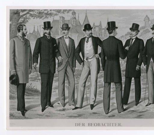 Men 1890-1900, Plate 022 :: Costume Institute Fashion Plates