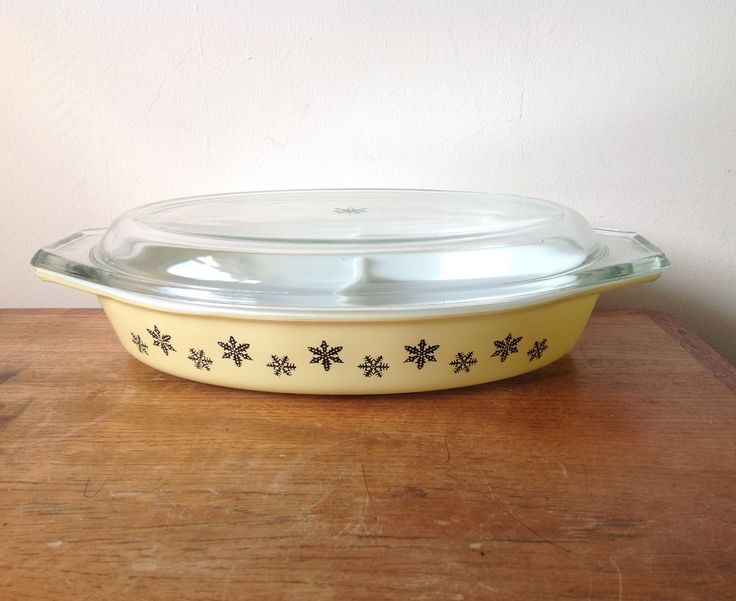 One from My snowflake collection....JAJ Pyrex Gaiety Snowflake Yellow DD