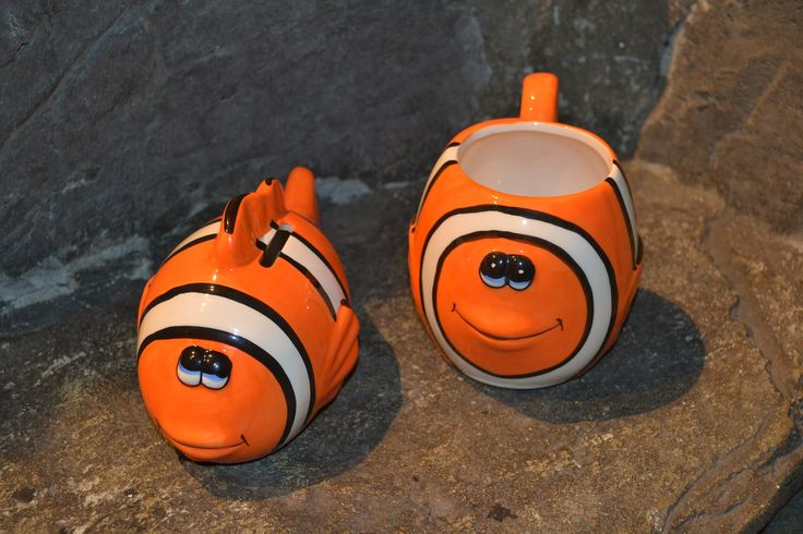 Our colourful clown fish mugs... perfect for any Finding Nemo fan!