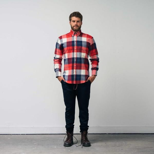 The WSw Everyday Shirt has soul! Soft and textured in brushed cotton flannel, the Everyday Shirt deconstructs the heralded button down shirt equipping you with a relaxed, yet tailored fit. The perfect transition from urban living to bonfire. The WSw Everyday Shirt is the definition of a winter essential.