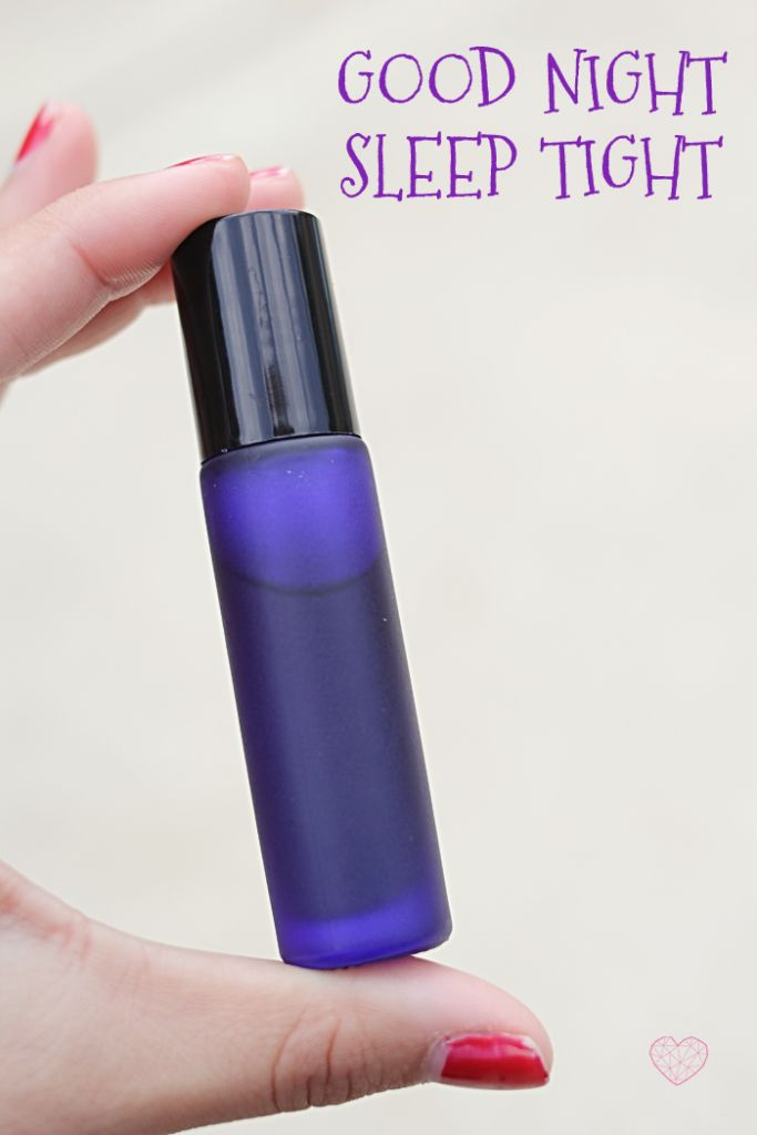 My favorite essential oil blend for helping my kids (and myself) sleep better at night.