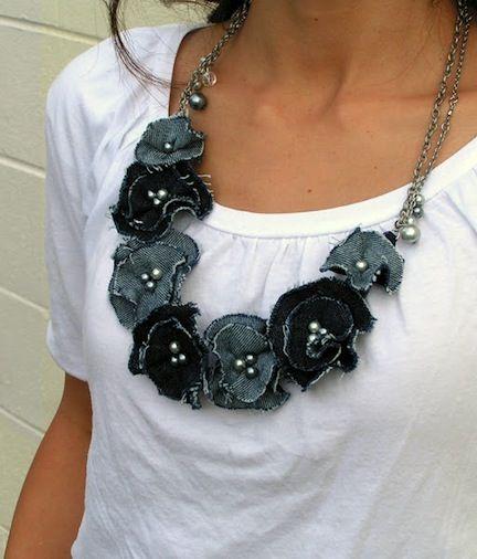 6 bonitas colares de flores DIY