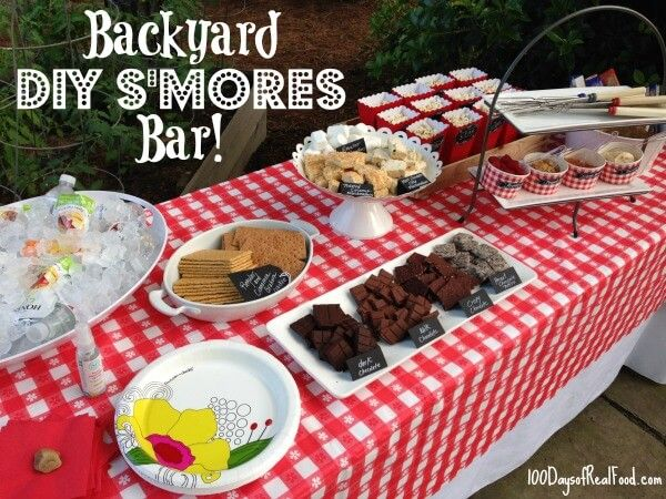 DIY S'mores Bar with Homemade Flavored Marshmallows and a Backyard Movie! - 100 Days of Real Food