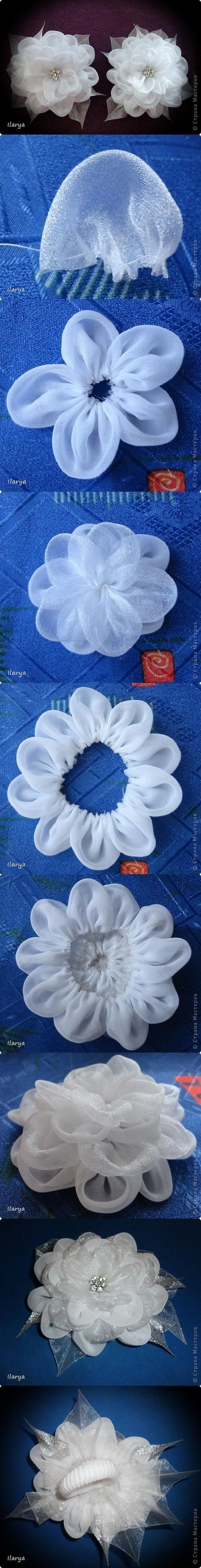 Fabric flower tutorial- sheer beauty