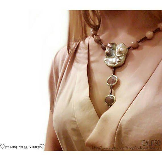 Guarda questo articolo nel mio negozio Etsy https://www.etsy.com/it/listing/493927086/y-collana-collana-lariat-rosa-gioielli
