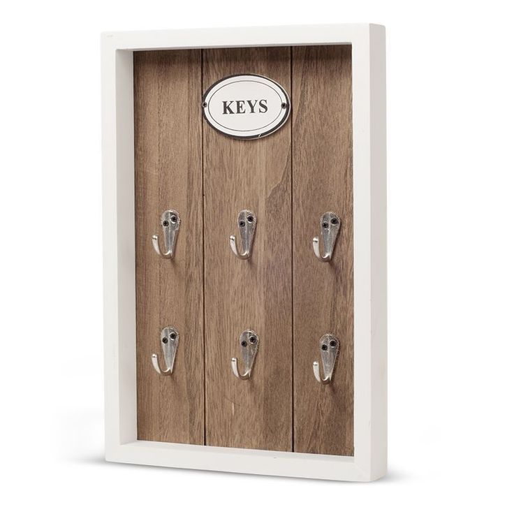 Wooden Rustic Wall Key Box Storage Hook Holder Wooden #Mystica